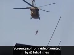 After US Exit, Video Of Taliban Flying US Chopper With Man Dangling