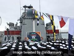Indian Naval Ship In UK Hosts Flag Hoisting Ceremony On Independence Day