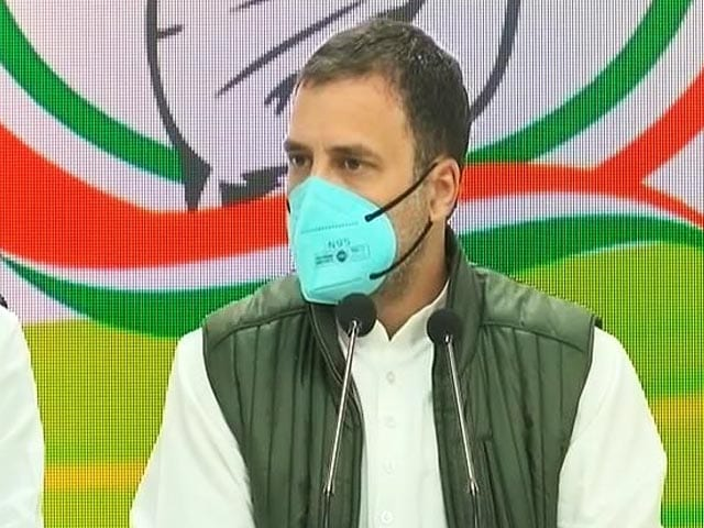 """Video : """"I'm A Martyr's Son"""": Rahul Gandhi Joins Outrage Over Jallianwala Revamp"""
