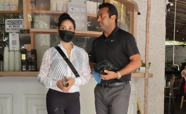 Kim Sharma And Leander Paes Started The Weekend With A Coffee Date. See Pics