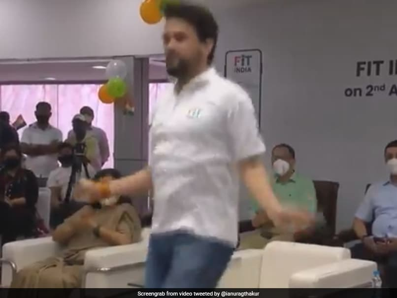 Watch: Sports Minister Anurag Thakur Shows Off His Skipping Skills On National Sports Day
