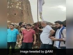 Case Against BJP MP For Hoisting Community Flag At Jaipur's Amagarh Fort