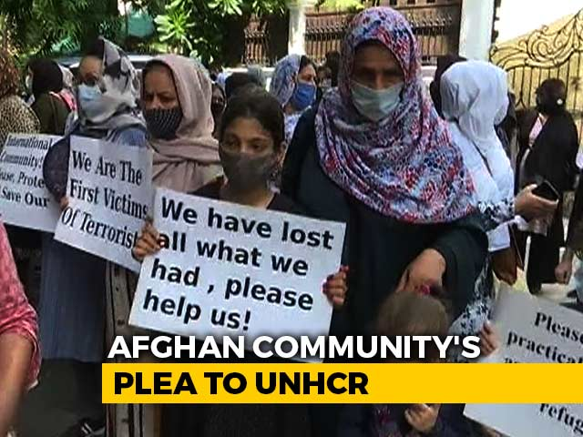 "Video : ""Can't Go Back"": Afghans In Delhi Seek Refugee Status, Financial Security"