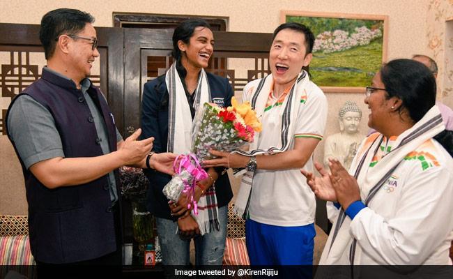 केंद्रीय मंत्री किरण रिजिजू ने की पीवी सिंधु के कोच पार्क ताई की तारीफ- बोले- हर भारतीय आपको जानता है
