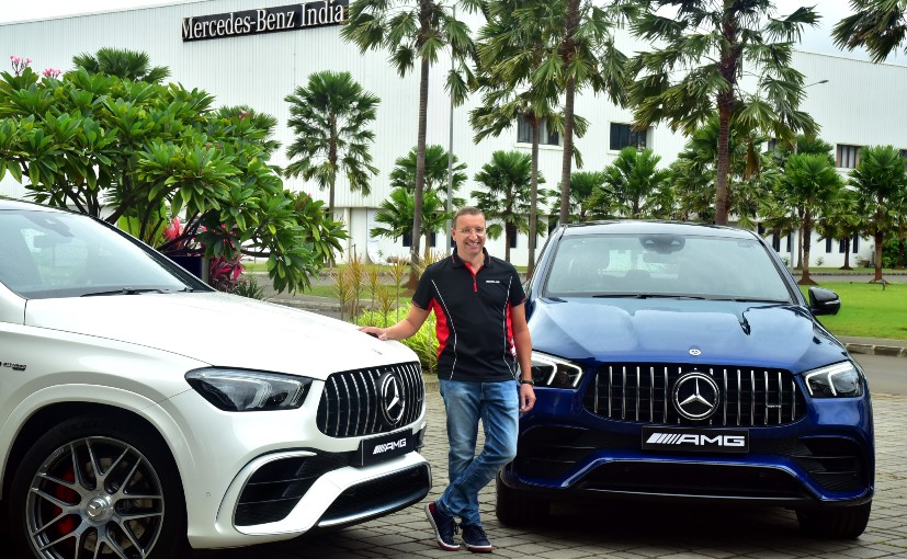 Martin Schwenk, MD & CEO, Mercedes-Benz India with the new GLE 63 S AMG 4MATIC+ Coupe