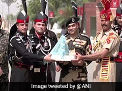 BSF, Pakistan Rangers Exchange Sweets On India's 75th Independence Day