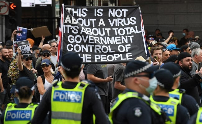 Hundreds Of Protesters Arrested As Australia Reports Record Covid Cases