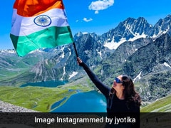 Jyotika Posts Her Thrilling Trek Up The Himalayan Mountains On Independence Day For Her Social Media Debut