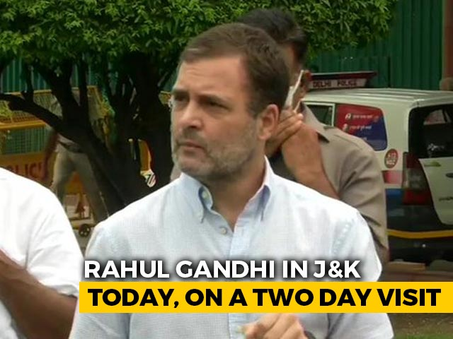 Video : Rahul Gandhi, 2 Years After He Was Made To Go Back, Returns To J&K Today