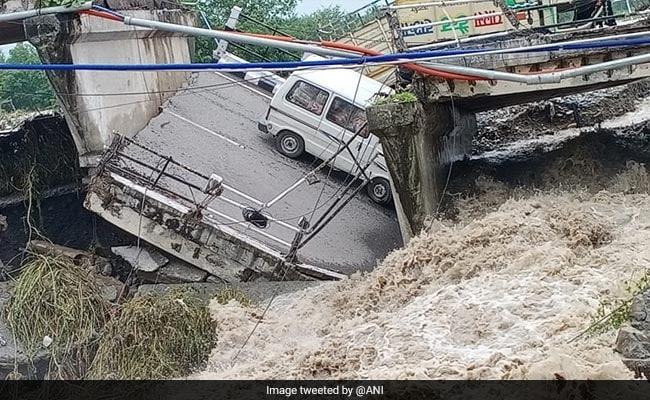 Watch: Dehradun Bridge Collapses, Road Caves In After Heavy Rains