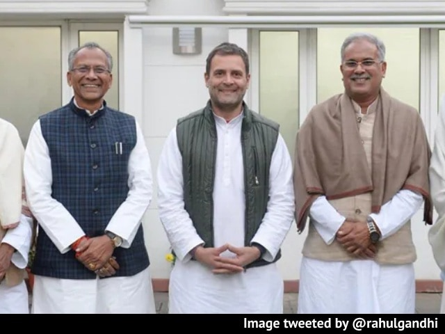 Video : Meeting With Rahul Gandhi As Congress Moves On To Chhattisgarh Problem