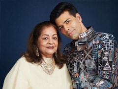 """Karan Johar's Mother Hiroo, 79, Had """"Two Massive Surgeries"""" In The Last 8 Months. Read His Post"""