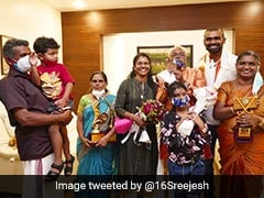 """""""Let Me Show You..."""": Bronze Medallist PR Sreejesh Reunites With Family After Tokyo Olympics. See Pics"""