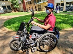 A Motorised Wheelchair Vehicle For Differently-Abled. Courtesy IIT Madras
