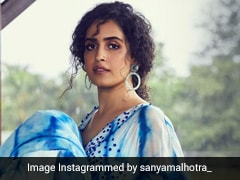 Sanya Malhotra Gives Us The Most Chic Kind Of Blues In A Beautiful White And Blue Dress