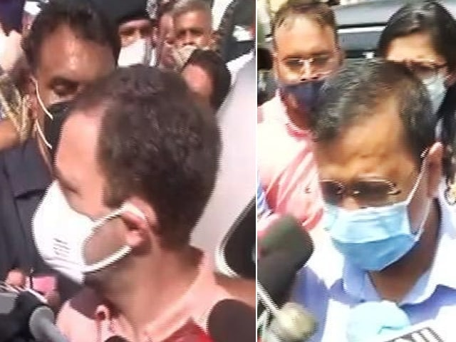 Video : Rahul Gandhi, Arvind Kejriwal Meet Family of 9-Year-Old Delhi Girl Allegedly Raped, Murdered