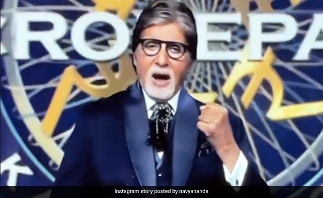 Navya Naveli Nanda Cheers For Grandfather Amitabh Bachchan On Kaun Banega Crorepati 13 Premiere