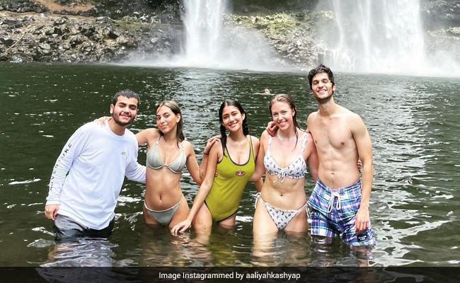 Aaliyah Kashyap Goes Hiking With Friends In Hawaii. See Pics From Wailua Falls