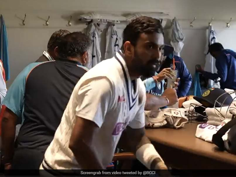 """Watch: """"Dressing Room Scenes"""" After KL Rahuls Batting Masterclass At Lords"""