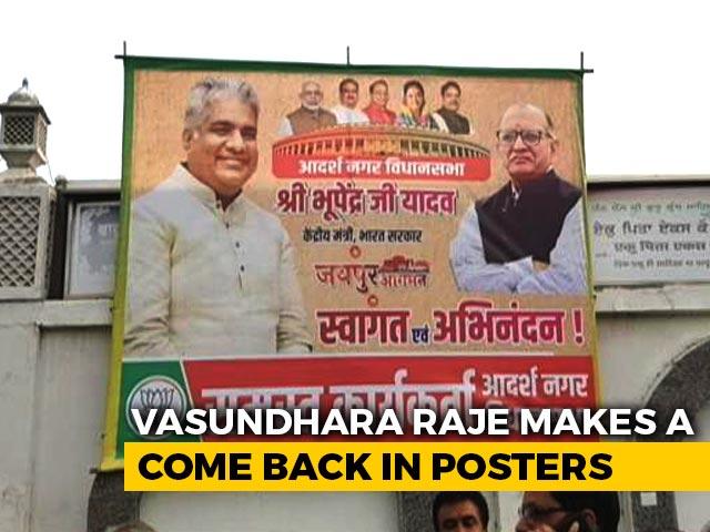 Video : Vasundhara Raje Finds Spot Back On BJP Posters In Rajasthan