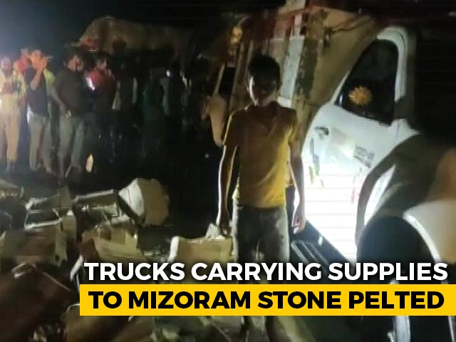 Video : Trucks, Escorted By Police, Move Into Mizoram From Assam Border