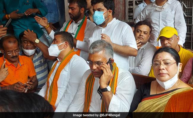 BJP's Dilip Ghosh, Suvendu Adhikari Arrested In Kolkata Over Covid Rules