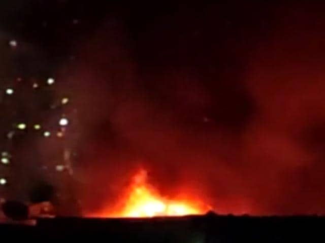 Video : Fire Breaks Out In Two Factories In Mumbai's Malad