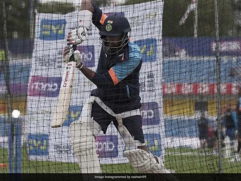 """Classy"": Shikhar Dhawan Reacts As R Ashwin Bats Left-Handed In Nets. See Pics"
