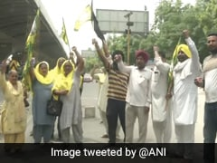Roads Blocked, Protests In Punjab Over Police Action On Haryana Farmers
