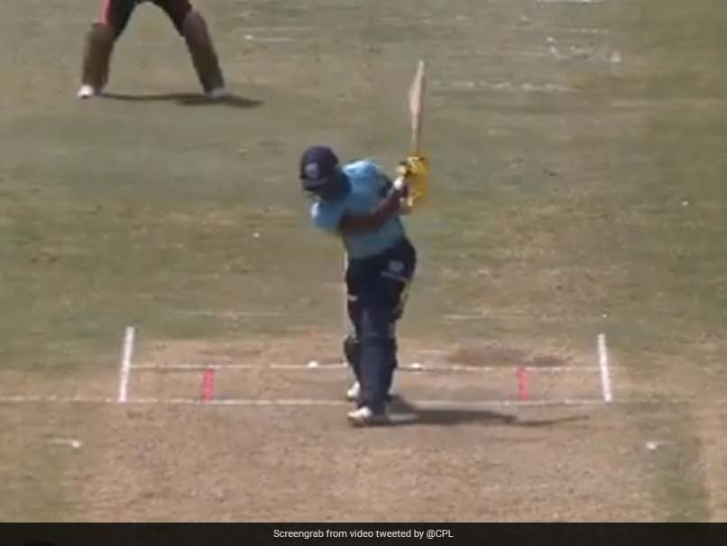 """Watch: Andre Fletchers """"No Look Six"""" In CPL Match Is A Thing Of Wonder"""