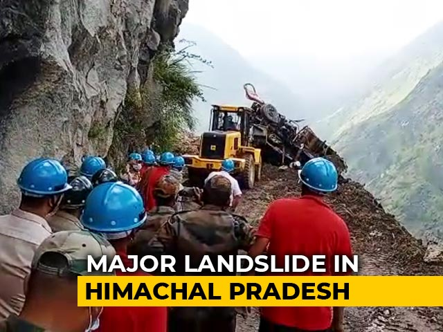Video : Major Landslide In Himachal, Many Feared Trapped