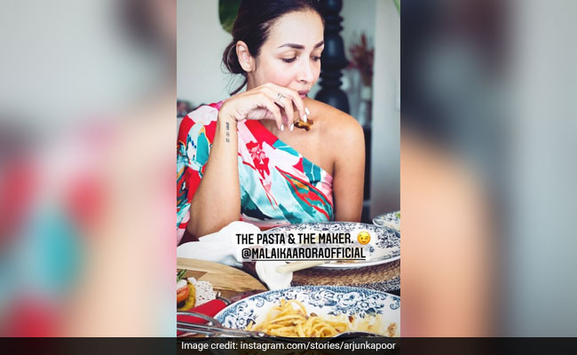 When Malaika Arora Cooked Pasta For Boyfriend Arjun Kapoor. A Scene From Their Sunday Lunch