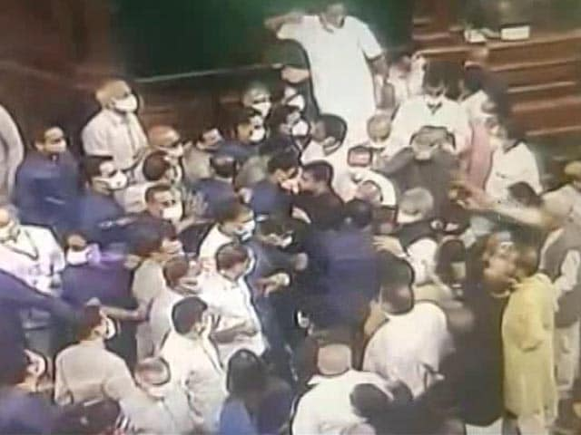 Video : After Footage Of Parliament Chaos, 8 Ministers Take On Opposition