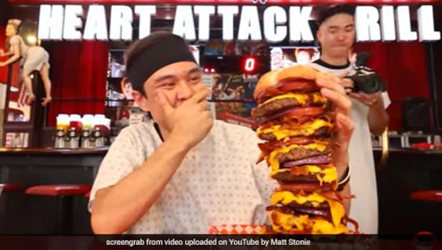 Wait, What! This Man Eats Massive 20,000 Calorie Burger In Just 4 Minutes