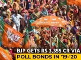Video : BJP Got Rs 2,555 Crore From Electoral Bonds In 2019-20, 76% Of Total