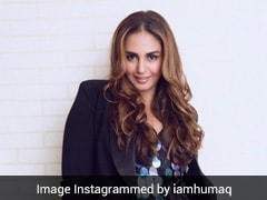 Huma Qureshi Gives Her Shimmering Dress A Sporty Touch With Sneakers