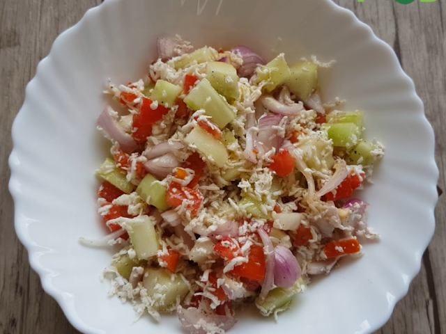 Video : How To Make Paneer & Kheera Salad | Easy Paneer & Kheera Salad Recipe