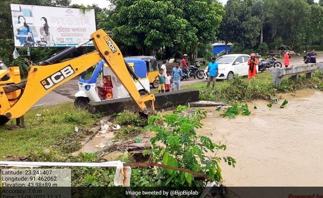 1 Dead, Two Injured In Tripura Landslides
