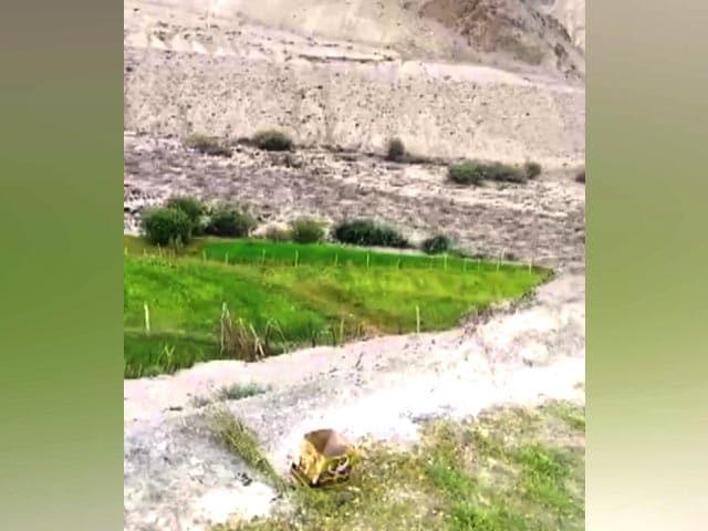 Video : Watch: Artificial Lake Bursts Near Leh's Rumbak, Blocks Indus River