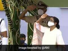 West Bengal Chief Minister Hoists National Flag At Red Road In Kolkata