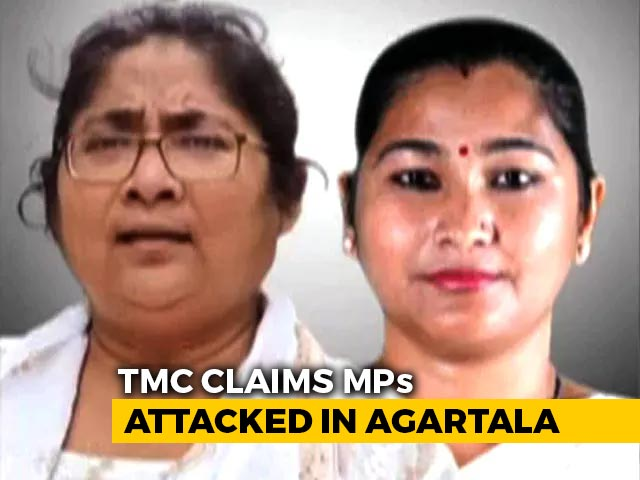 Video : 2 Trinamool MPs Claim They Were Attacked In Tripura, Aide Injured