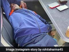 """""""When Sleep Is Life"""": Rohit Sharma Shares Picture Of Shardul Thakur, Prithvi Shaw Taking A Nap En Route To Leeds"""