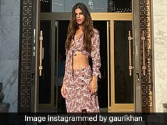 Suhana Khan Is Upping Serbia's Style Game In A Printed Crop Top And Slit Skirt
