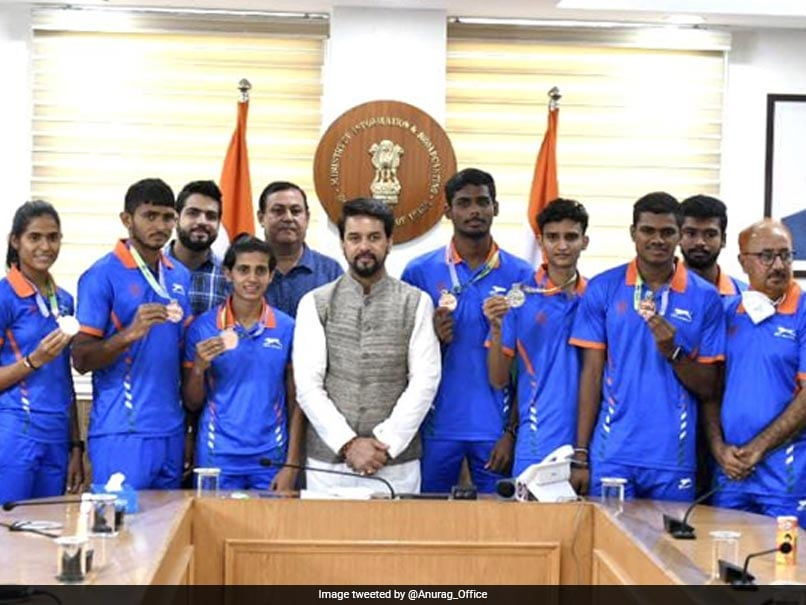 World Athletics U20 Championships: Sports Minister Anurag Thakur Meets Athletes, Wants To Help Youngsters Shine Further