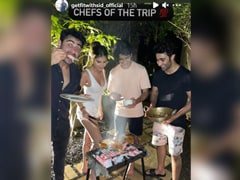 For Aadar Jain's Birthday, Tara Sutaria Turns Super Chic Chef In A White Tank Top And Shorts