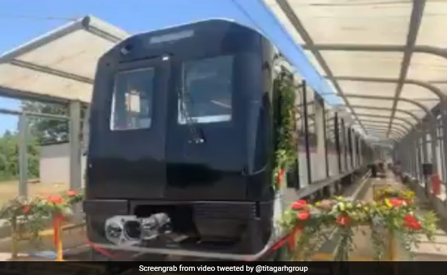 Titagarh Wagons' Italy Plant Rolls Out First Pune Metro Train