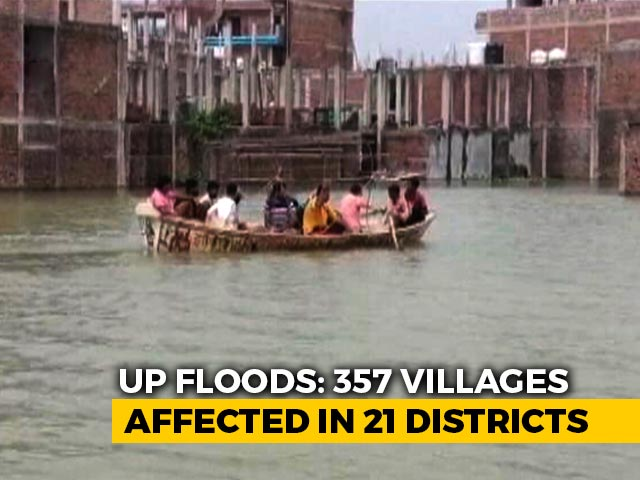 Video : Over 350 Villages Hit By Floods In UP, Ganga, Yamuna Above Danger-Mark