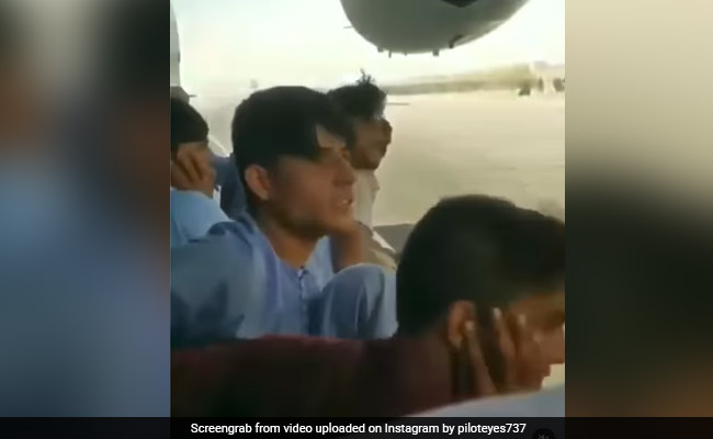 Video: In Desperate Bid To Escape, Afghan Men Hang Onto Planes Taking Off