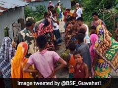 BSF Jawans Evacuate Ailing Woman To Assam Hospital By Speed Boat