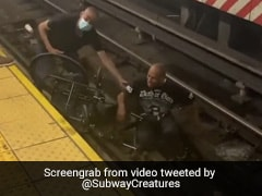 Watch: Bystanders Rush To Rescue Man In Wheelchair From Oncoming Train